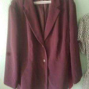 Maroon Covington blazer 22w